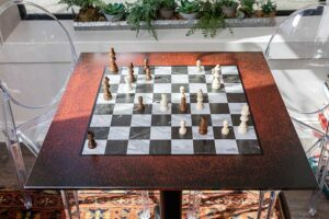Chess Board Digitally Printed Table Top