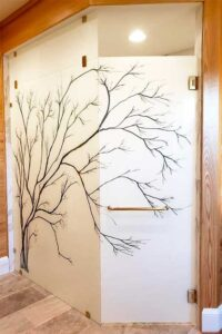 Digitally Printed Tree Shower Enclosure